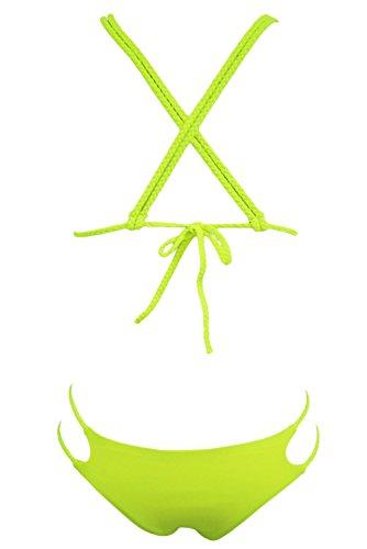 Pinkyee Damen Bikini-Set Gelb