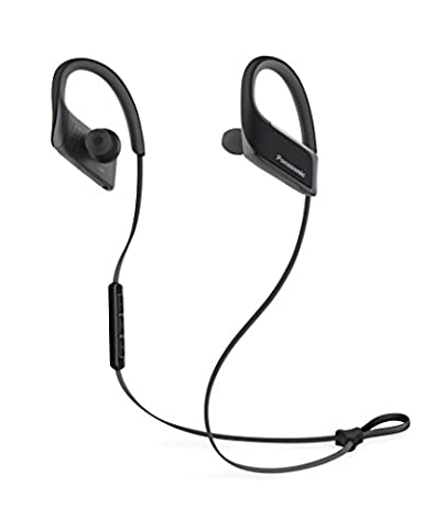 Panasonic RP-BTS30E-K Bluetooth In-Ear Kopfhörer (wasserfest, Schnellladefunktion, flexible Ohrbügel)