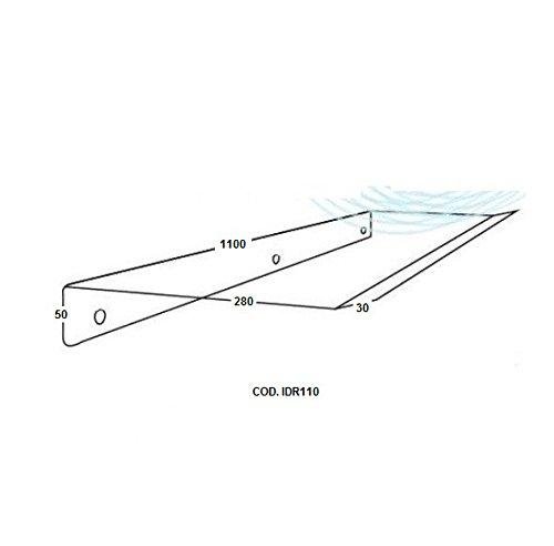 Deflettore Aria 110cm per Condizionatori e Split-Protezione aria Climatizzatori Idrotop- ideale per evitare il flusso fastidioso creato dagli impianti di aria condizionata