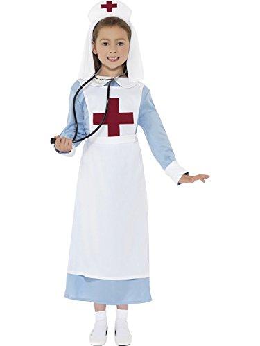 Imagen de de smiffy  356 041  ww1 traje de la enfermera  niños disfraces  media  143cm