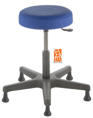 Arbeitshocker , Arzthocker, Drehhocker, Standhocker Modell comfort, Hubbereich ca. 46 - 59 cm, rutschfeste Bodengleiter, Sitzfarbe atoll-blau