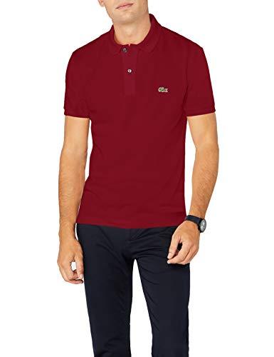 d08b181be414 Lacoste Herren Polo T-shirt Ph4012, Rot (Bordeaux), Small (Herstellergröße
