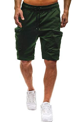 Armee Camouflage Shorts (Herren Shorts Kurze Hose Herren Cargo Shorts Bermuda Short Herren Sweatshort Sportshorts Freizeit Laufen Lässige Camouflage (Cargo Stil, Armee grün, M))