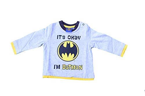 (Batman Langarmshirt Grau (86))