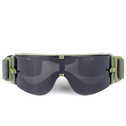 UICICI US-Militärbrille mit Feld-Explosionsdämpfergläsern für Motorradbrillen (Farbe : Grau)