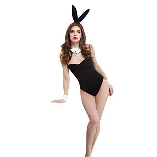 taottao Frauen Sexy und niedlich Kaninchen Cosplay Gepolsterte Spice Dessous String Unterwäsche Overall Bunny Girl