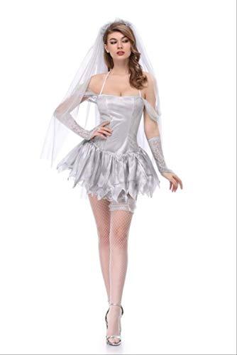 Frauen Beängstigend Kostüm - WARRT Halloween Kostüm Halloween Kleid Beängstigend Kostüme Für Frauen Geist Cosplay Kleid Böse Prinzessin Skelett Vampir des Kostüms Hexe XL 15