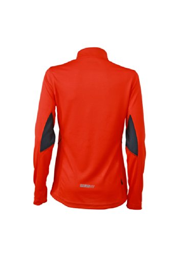 JAMES & NICHOLSON Ladies Running Shirt - T-shirt de Maternité - Femme Rouge (Grenadine/Iron Grey)