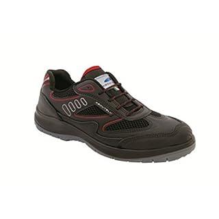 Aboutblu 1930010la _ 38Eagle Black Red S3Work Shoe, Size 38, Black Red
