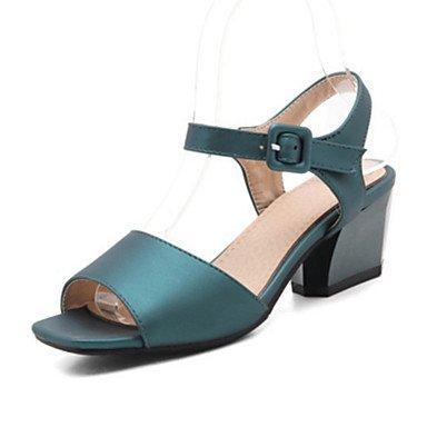 Sanmulyh Mujer De Los Zapatos De Primavera Y Verano Comfort Sandalias Noticias Chunky Talón Peep Toe Lentejuelas Hebilla Para Vestido Gris Verde Verde Rojo