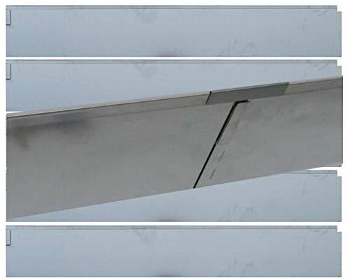 Stahlblech feuerverzinkt bellissa Rasenkante Welle aus Metall silberfarbig 99686 Wellenf/örmige 500 x 20 cm