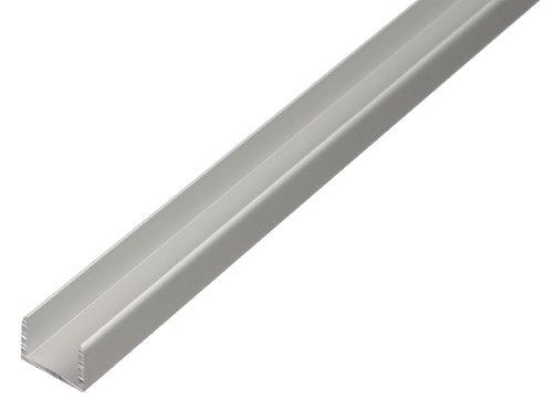 GAH-Alberts 030623 U-Profil - selbstklemmend, Aluminium, silberfarbig eloxiert, 1000 x 15,9 x 15 mm (Eisen 15 Licht)