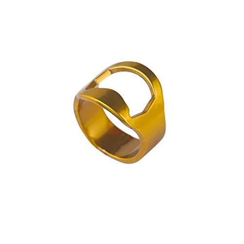 YONGMEI Ring-Bier-Flaschenöffner-Zusatz-Edelstahl-Werkzeug-kreatives Geschenk-Stab-Haus (Color : Gold, Size : A)