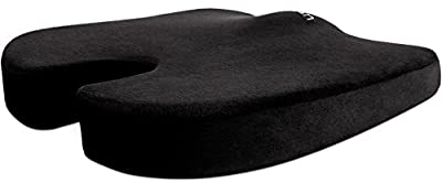 Cush Comfort Non-Slip Memory Foam Seat Cushion - Spinal Alignment Chair Pad for Relief from Sitting Back Pain - inexpensive UK light store.