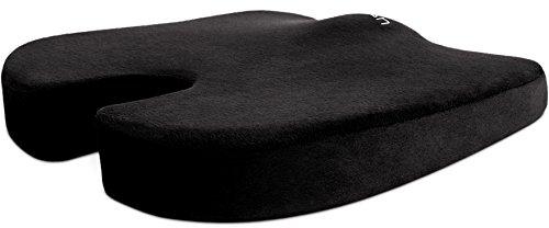Cush Comfort Rutschfestes Memory-Schaum Sitzkissen (erweiterte Version) - Sitzauflage fördert die Wirbelsäulen Ausrichtung und lindert Rückenschmerzen beim Sitzen
