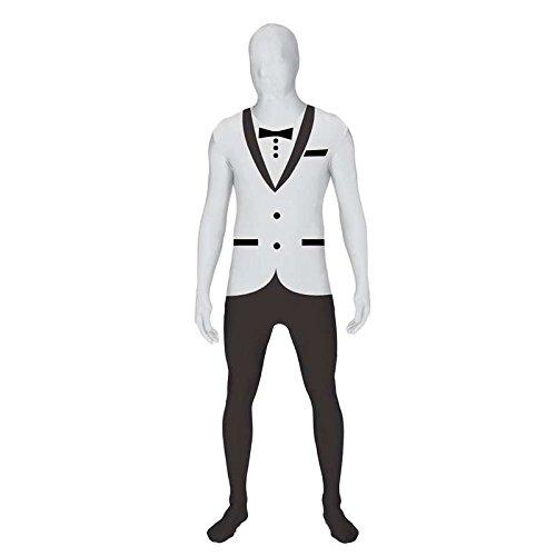 Seconde Peau Kostüm - Zweite Haut morphsuit TM tuxedo, Größe m, weiß