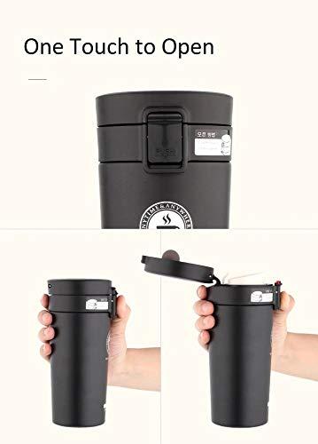 DEALPICK 380 ML Premium Travel Stainless Steel Thermos Tumbler Cups Vacuum Flask Tea Coffee Office Desk Mug - 1 Piece