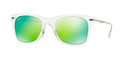 RAYBAN Herren Sonnenbrille Ray Ban Rb4210, Matte Transparent/Greenmirrorblue, One Size (Herstellergröße: 50)