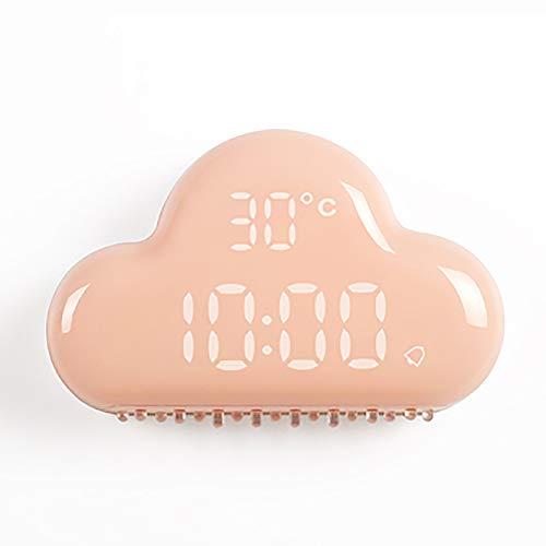 LOTOS - Réveil numérique à DEL Cloud Shape avec horloge intelligente Snooze et affichage DEL intelligent,Pink