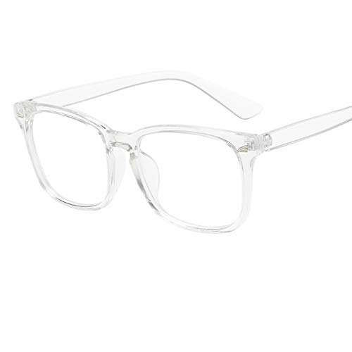 REALIKE Unisex Damen Herren Klassische Quadrat Rahmen Flacher Spiegel Mode Blaues Licht glasses...