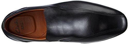 Clarks Glenrise Step Herren Slipper Schwarz (Black Leather)