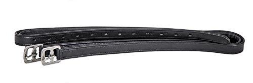 Swiss Horse Steigbügelriemen Leder-Nylon besonders weich - Neu - schwarz 150 cm