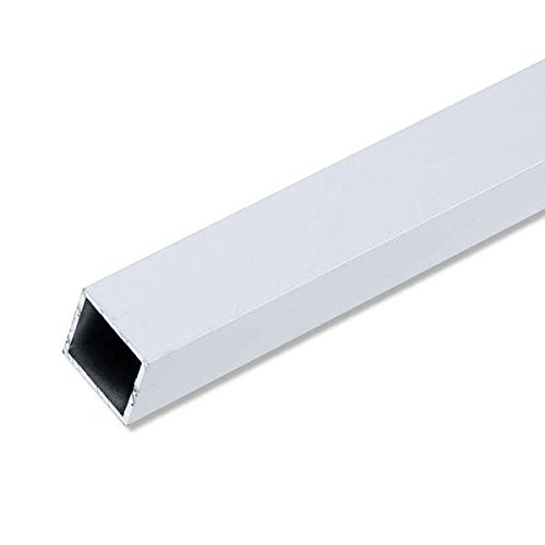 Preisvergleich Produktbild Vierkantrohr 10x10x1mm 1m Aluminium silber