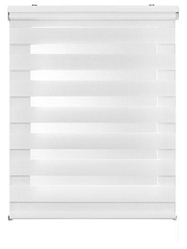Estores Basic- Enrollable Noche & Día,  Blanco, 90x250 cm