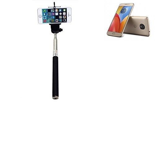 K-S-Trade® per Motorola Moto E4 Plus Bastone Selfie Selfiestick Asta Autoritratto telescopica Fotografico Monopiede Selfie Stick per Motorola Moto E4 Plus Nero