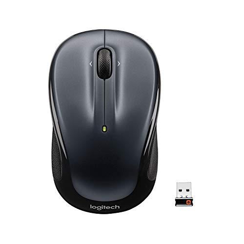 Logitech M325 910-002142 optische Maus (schnurlos, geeignet für Windows Vista, Windows 7, Windows 8, Windows 10, Mac OS X 10.5, Chrome OS) dunkelsilber -