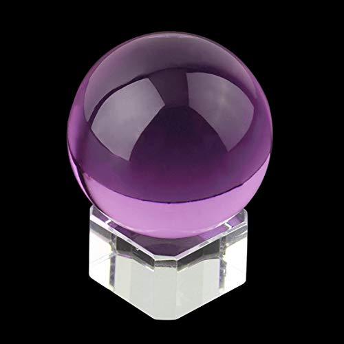 Pgige Hot Unisex Natürliche Quarz Lila Runde Magische Kristall Ball Healing Kugel 40mm + Stand Home Glück Dekoration