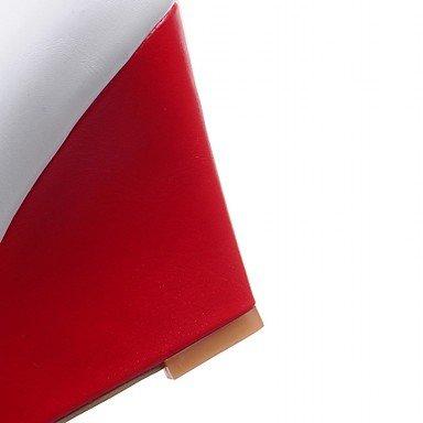 CH&TOU Da donna-Tacchi-Matrimonio Ufficio e lavoro Formale Casual Serata e festa-Comoda Innovativo Decolleté-Zeppa-Sintetico Vernice Finta pelle- red