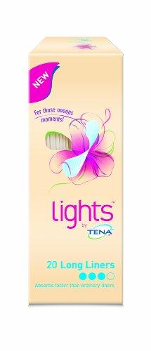 TENA Lights Long Liner - 4 x Packs of 20 ( 80 liners ) by TENA