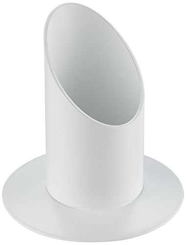 Rayher Kerzenhalter, aus Metall, ideal für Stabkerzen, Stumpenkerzen, Tafelkerzen Taufkerzen und Kommunionkerzen - Kerzenständer, Kerzenleuchter, ø 40 mm, weiß matt