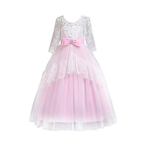 eln Prinzessin Kostüm Openwork Girl Kostüm für Halloween Weihnachtsfeier Alter 3-14 Jahre Brautjungfern ()