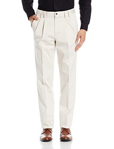 Louis Philippe Mens Formal Trousers (8907153605156_LPTP1M00295_44W x 30L_Lt.Beige)