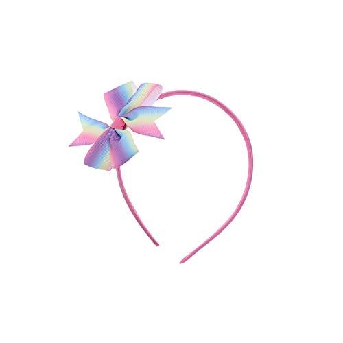 Frcolor Kinder Regenbogen Stirnband Gradienten Haarband Bowknot Stirnband Weihnachtsfeier Headwear Zubehör