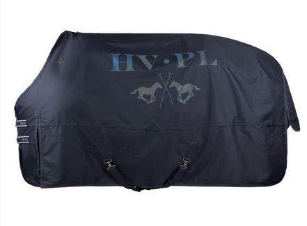 HV Polo Outdoor-Decke Paddockdecke Regendecke | 600 DEN wasserdicht atmungsaktiv | Komfort-Widerristschnitt | modifizierter Gehschlitz | doppelter T-Riegel-Frontverschluss (135, Navy)