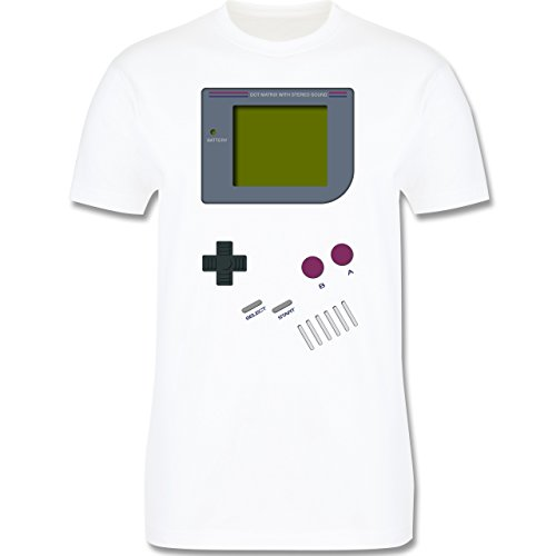 Nerds & Geeks - Gameboy - L - Weiß - L190 - Herren T-Shirt (Kostüm Boy Game)