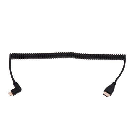 Homyl High Speed HDMI Spiral Kabel HDMI Stecker auf 90 Grad Adapterkabel Digitale Übertragung: 10,2 Gbit/s -