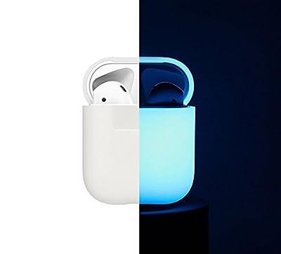 elago AirPods Casque Etui Housse [Coque de Protection en Silicone] [Ajustement Parfait] – pour Apple Airpods de elago