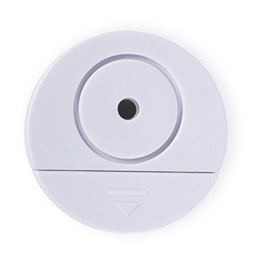 Smartwares SC08/2 Glasbruch-Sensoralarm Glasbruchalarm/Vibrationsalarm für Fenster und Türen, 2er Pack, 1.5 V, weiß