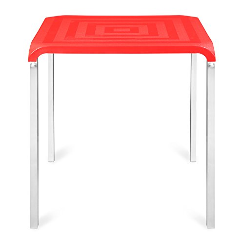 @home by nilkamal Novella 4 Seater Polypropylene Red Dining Table  available at amazon for Rs.3500