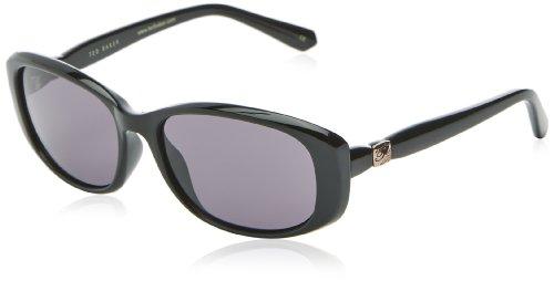 Ted Baker Damen Freja Oval Sonnenbrille, Black Oval Baker
