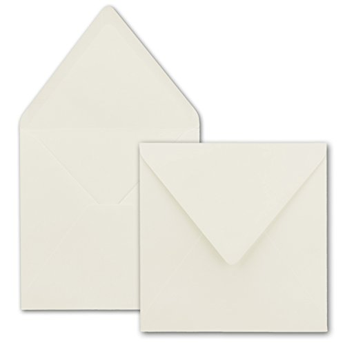 NEUSER Buste quadrate / bianco naturale / qualità robusta-molto resistente-110g/m², 158x 158mm, applicazione a bagnato, chiusura a punta // dalla serie