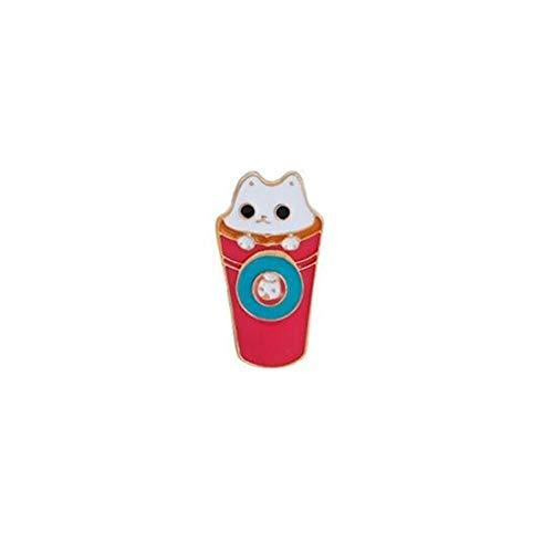 GAXIA Home Abzeichen Kostüm Zubehör Kreative Schöne Abzeichen Kreative Nette Kaffee Katze Button (Bunte)