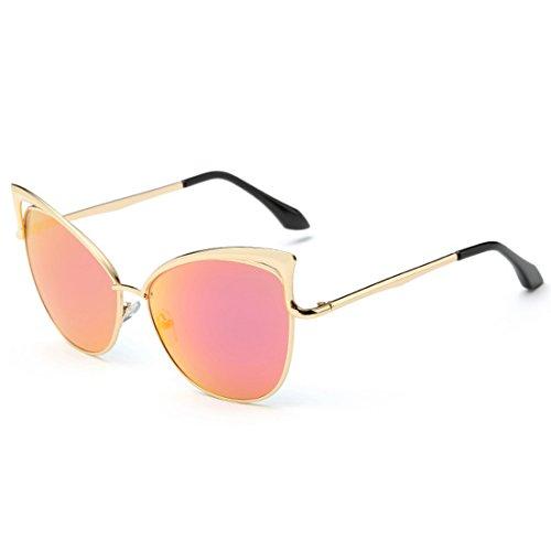 Nouveau/Europe et aux États-Unis Lunettes de mode personnalité/femmes Mode Chat Lunettes de soleil rose