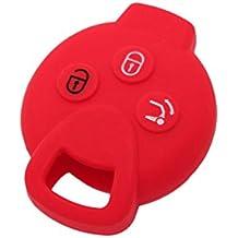 Fassport - Carcasa de silicona para llave a distancia con 3 botones para Mercedes Benz Smart Fortwo CV9900