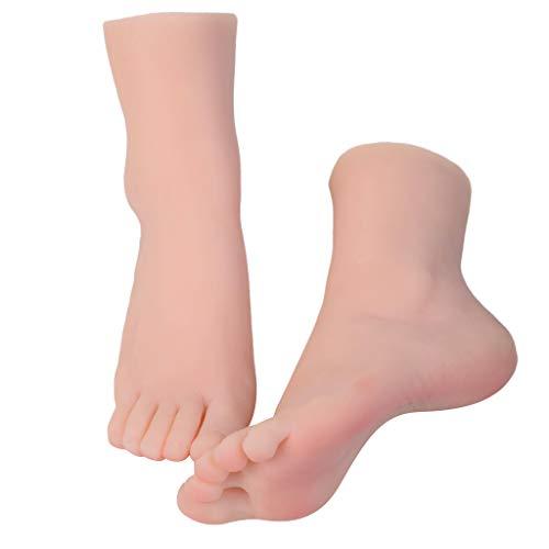 IPOTCH Weiblich Schaufensterpuppe Füß Dekofuß Dekobein Künstliche Füße Schmuckständer Display Fuß