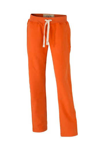 James & Nicholson Sweathose Ladies' Vintage Pants-Mutande Donna Arancione (dark-orange)